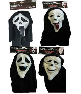 Unisex Ghost Face Spoof Scary Movie Licensed Halloween Fancy Dress Masks