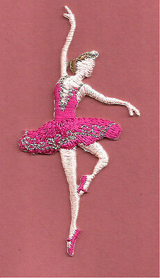 Ballerina Dance Monkey Embroidered Iron On Applique Patch Lilac