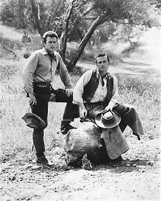 Clint Eastwood As Rowdy Yates , Eric Fleming 8X10 Photo