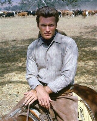 Clint Eastwood As Rowdy Yates From Rawhide 8X10 Photo
