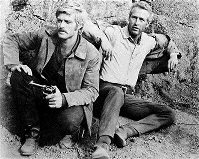 PAUL NEWMAN AS BUTCH CASSIDY, ROBERT REDFORD 8X10 PHOTO fine image 14285