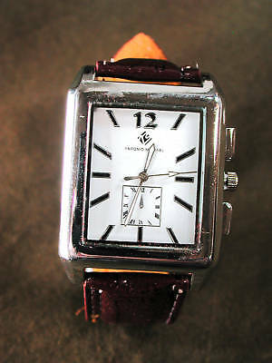 Mens Antonio Michael Square Dial Seconds Dial Watch