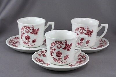 Royal Staffordshire Windsong Meakin Cup & Saucer Sets