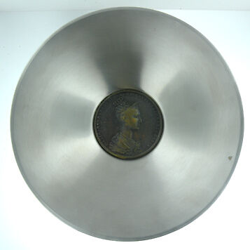 Stainless Steel Florentine Italian Coin Bowl