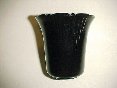 "Rarely Seen Akro Agate Black 3"" Slightly Flared Pot Graduated Darts"