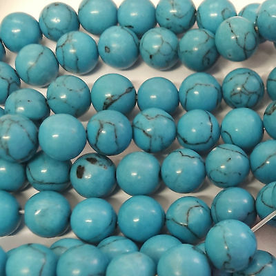 16 Inch Turquoise 12mm Round Beads
