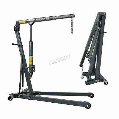New Hydraulic Folding Engine Crane Stand Hoist lift Jack With Wheels 1 Ton Tonne