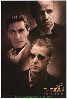 THE GODFATHER MOVIE POSTER 27x40 1990S DVD A VERSION