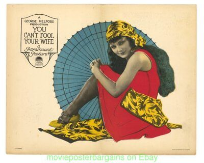 You Can't Fool Your Wife 1923 Lobby Card Movie Poster