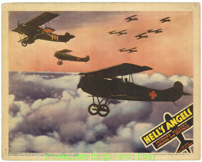 Hell's Angels Movie Poster Lobby Card #2 R1937 Wwi