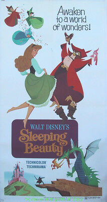 Sleeping Beauty Movie Poster 3S R1970 Disney Animation