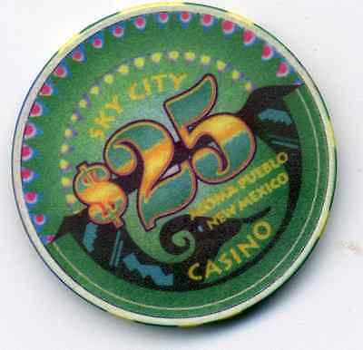 Sky City $25 New Mexico  Casino Chip