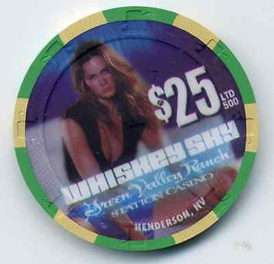 Las Vegas $25 Green Valley Whiskey Shy   Casino Chip