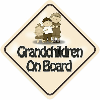 Unpersonalised 3 Grandchildren Baby On Board Car Sign