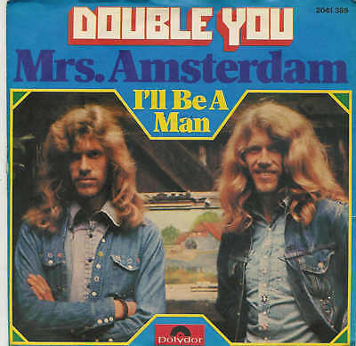 "DOUBLE YOU - Mrs. Amsterdam / 7"" Single"