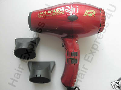 PARLUX 3500 Compact Ionic + Ceramic Dryer Red