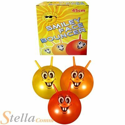 Smiley Face Retro Junior Space Hopper Ball for Kids
