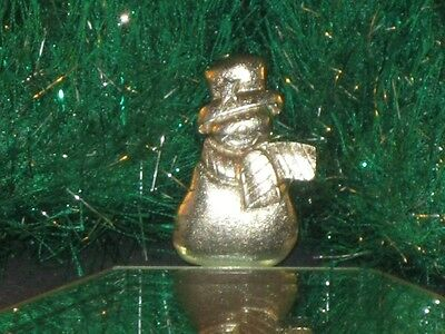 FUNKY LITTLE PEWTER? SNOWMAN IN TOPHAT CHRISTMAS PIN!