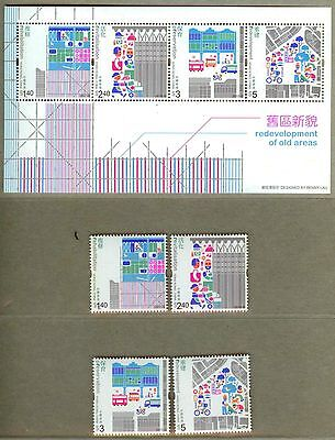 Hong Kong 2010 Redevelopment of Old Area S/S + Stamps