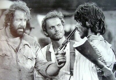 Poster Trinita' Terence Hill Bud Spencer Western 100X70