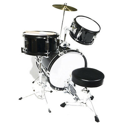 Mendini 16 Junior Kids Child Jr Drum Set Kit Black 109 99