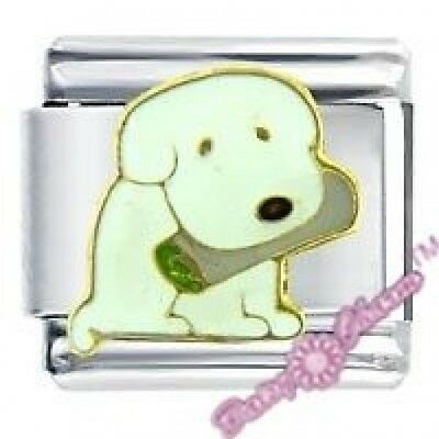 PUPPY W/ NEWSPAPER - Daisy CHARM Fits Nomination Classic Size Italian Charm