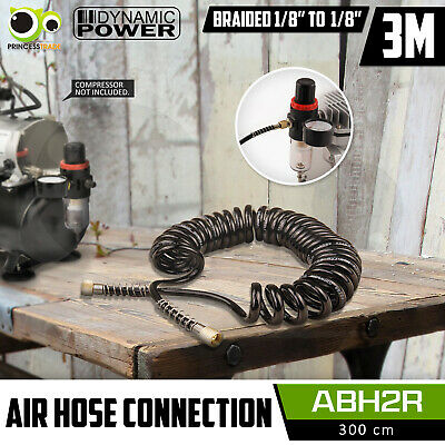 "3M Air Hose Flexible Retractable Rubber Air Brush Compressor 1/8"" to 1/8"" End"