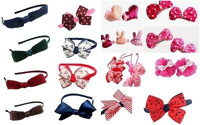 Girls Hair Accessories Ribbons Bows Elastic Bobbles Clips Party School Hairband