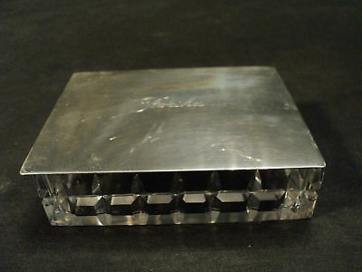 Stunning Hawkes Sterling & Cut Glass Cigarette Box