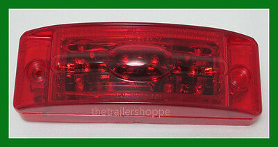 2 X 6 18 LED Red Marker Clearance Light Trailer Truck