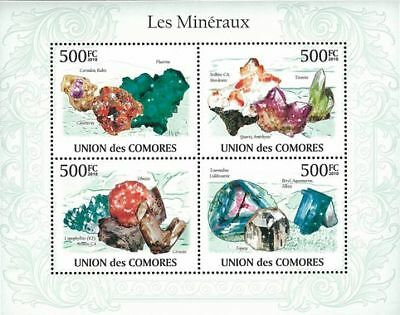 Comores 2010 Stamp, Ore, Jewel, Mineral, Place