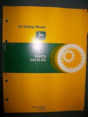 John Deere 55 Riding Mower 1979 : Parts Catalog