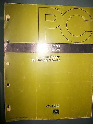 John Deere 56 Riding Mower 1973 : Parts Catalog