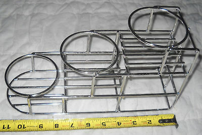 3 bottle rack fifths/syrup  stainless 5001324
