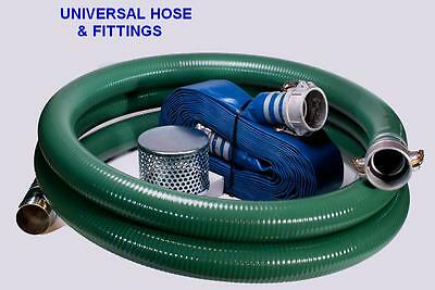 "2"" Trash Pump Suction Hose Kit 100Ft Discharge Camlock Kit #88"