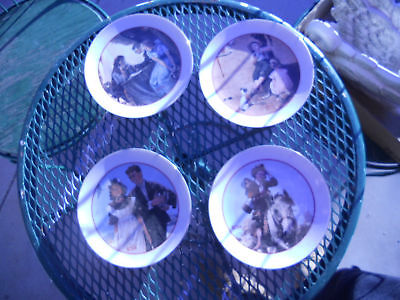 4 collector plates,Norman Rockwell YOUNG LOVE SERIES