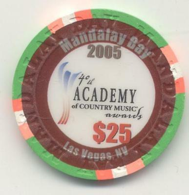Las Vegas Mandalay Bay 40Th Academy Country Music $25  Casino  Chip