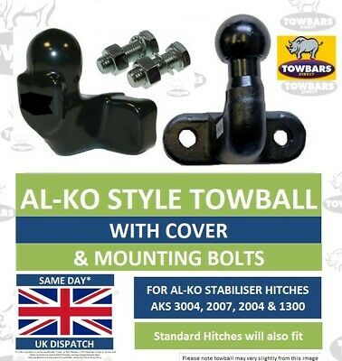 AL-KO Towball Tow Ball Kit for ALKO AKS Stabiliser Hitches with Cover Long Reach