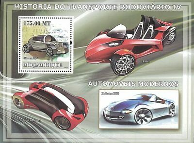 Mozambique 2009 Stamp, Modern Car, Transportation S/S 4