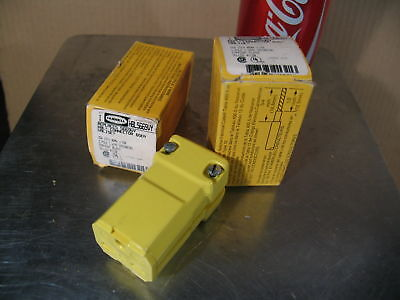 2 New HUBBELL Connectors (HBL 5669VY) 15a/250v