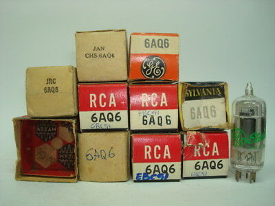 6Aq6 Tube. Mixed Brand Tube. Nos & Nib. Rcb12
