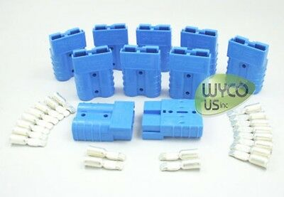 8 GAUGE FOR SMALL 50A CONNECTORS GENUINE ANDERSON SET OF TWO CONTACTS #8AWG