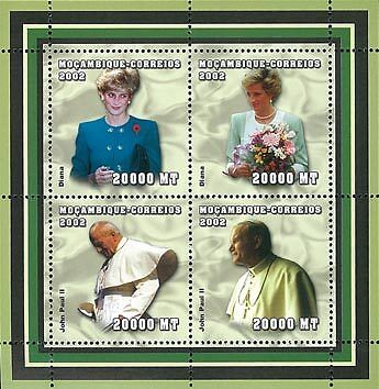 Mozambique 2002 Stamp, Important People, Diana
