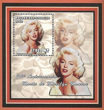 Mozambique 2002 Stamp, Marilyn Monroe, Actress S/S 3