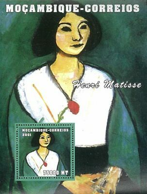 Mozambique 2001 Stamp, Art, Painting, Henri Matisse S/S