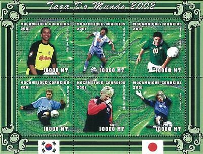 Mozambique 2001 Stamp, World Cup 2002 Football Sport 14