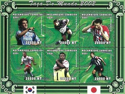 Mozambique 2001 Stamp, World Cup 2002 Football Sport 18