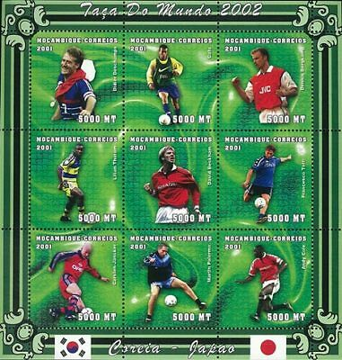 Mozambique 2001 Stamp, World Cup 2002 Football Sport 20