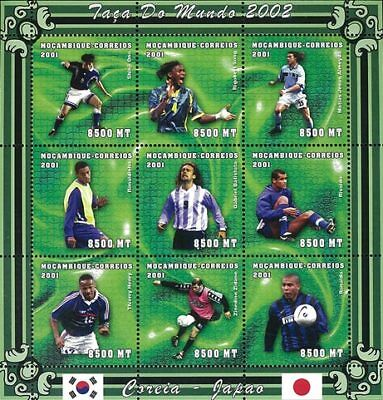 Mozambique 2001 Stamp, World Cup 2002 Football Sport 24