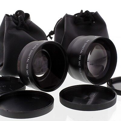 WIDE Angle,Tele Lens Kit for Nikon D200 D5300 D5200 D5100 D5000 55-200mm,18-55mm